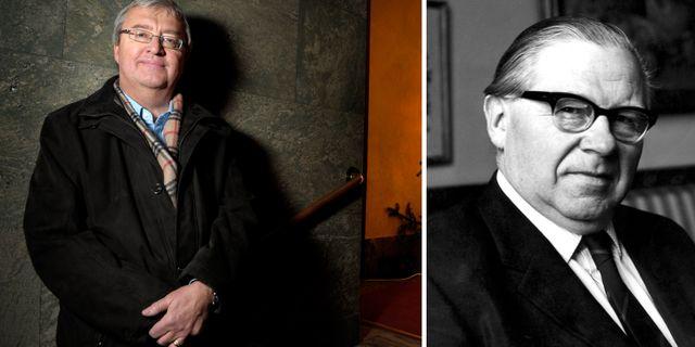 Erik Åsbrink och Gunnar Sträng. TT