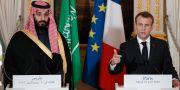 Mohammed bin Salman och Emmanuel Macron. Arkivbild. Yoan Valat / TT NYHETSBYRÅN/ NTB Scanpix