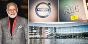 Narendra Modi, Indiens premiärminister. Volvo Cars, ABB och Ericsson är tre av de svenska företag som ska delta i samtalen med Modi.  TT
