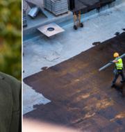 Carl-Oscar Bohlin/arbete på byggarbetsplats. Moderaterna/TT