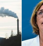 Klimatminister Isabella Lövin (MP).  TT
