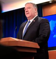 Arkivbild. USA:s inrikesminister Mike Pompeo.  Pablo Martinez Monsivais / TT NYHETSBYRÅN