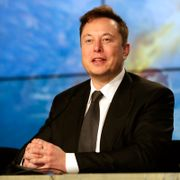 In this Sunday, Jan. 19, 2020, file photo, Elon Musk founder, CEO, and chief engineer/designer of SpaceX speaks during a news conference after a Falcon 9 SpaceX rocket test flight to demonstrate the capsule's emergency escape system at the Kennedy Space Center in Cape Canaveral, Fla. John Raoux / TT NYHETSBYRÅN