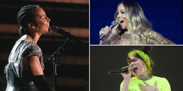 Alicia Keys/Mariah Carey/Billie Eilish. TT