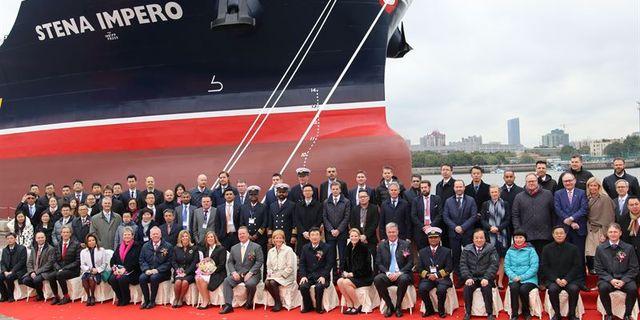 Arkivbild på fartyget Stena Impero som har beslagtagits. Stena Bulk