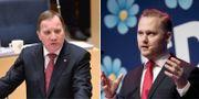 """Stefan Löfven """"trixar med statistiken"""", säger SD:s gruppledare Henrik Vinge efter att partiet KU-anmält statsministern. TT"""