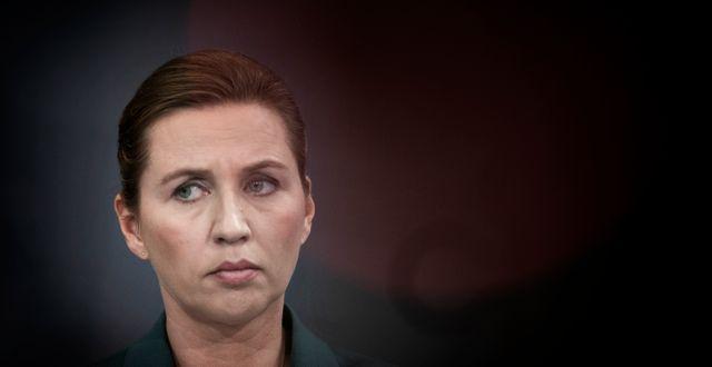 Danmarks statsminister Mette Fredriksen. Liselotte Sabroe/RitzauScanpix/TT / TT NYHETSBYRÅN