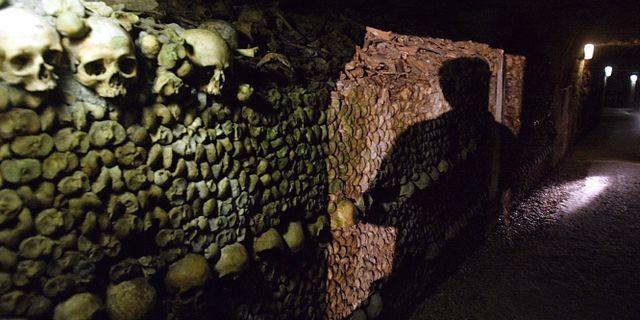 Bild från katakomberna. MICHEL EULER / TT NYHETSBYRÅN/ NTB Scanpix