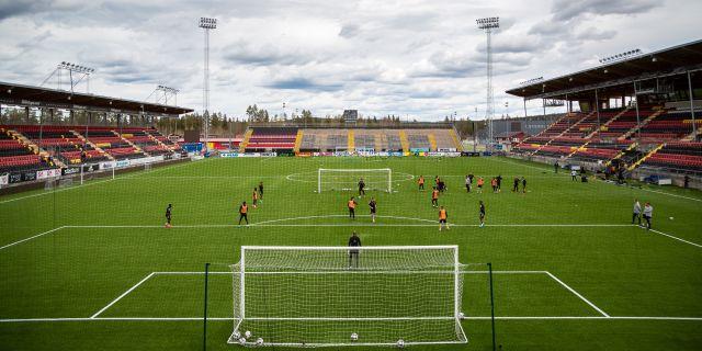 Östersunds FK under träning i maj. JOHAN AXELSSON / BILDBYRÅN