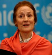 Unicef-chefen Henrietta Fore.  Hussein Malla / TT NYHETSBYRÅN