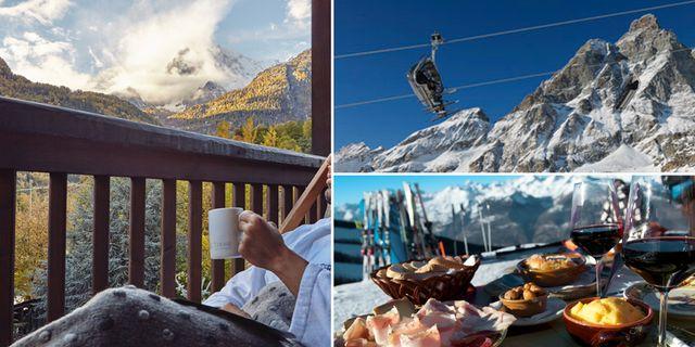 Till Aostadalen i Italiens nordvästra hörn kommer man två cirka två timmar med shuttlebuss eller hyrbil från Milano eller Turin. Pré-Saint-Didier Thermal Spa / Valle d'Aosta tourism