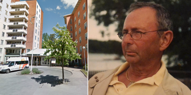 Jan dog på äldreboendet i Solna.  Google Maps/Privat.