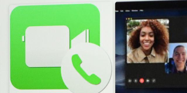 Arkivbild: Facetimes logotype på en Ipad i Rom.  VINCENZO PINTO / AFP