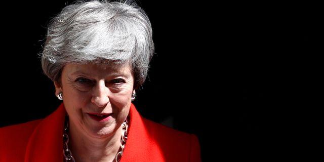 Theresa May, premiärminister i Storbritannien.  Hannah Mckay / TT NYHETSBYRÅN