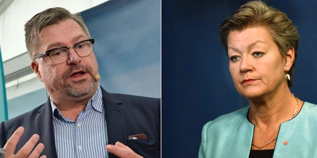 Mikael Sjöberg och Ylva Johansson. TT