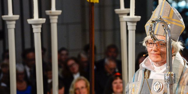 Äkebiskop Antje Jackelén. PONTUS LUNDAHL / TT / TT NYHETSBYRÅN