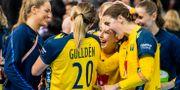 Spelare i det svenska landslaget efter matchen mot Rumänien i VM 2019. Illustrationsbild. LUDVIG THUNMAN / BILDBYRÅN