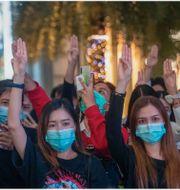 Protesterna i Thailand.  TT