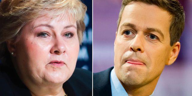 Erna Solberg/Knut Arild Hareide. TT
