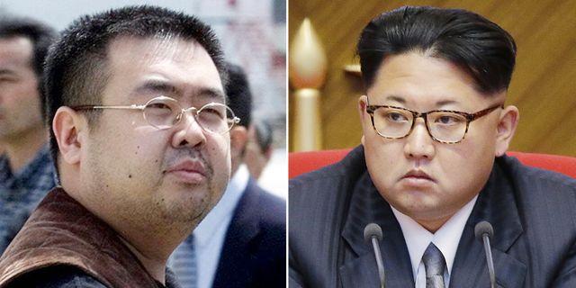 Kim Jong-Nam till vänster, och halvbrodern Kim Jong-Un. Shizuo Kambayashi, Wong Maye-E / TT / NTB Scanpix