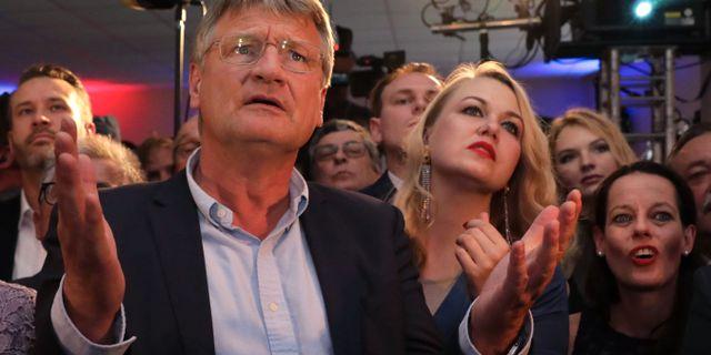 Joerg Meuthen, toppkandidat för tyska AfD när resultaten presenterades. CHRISTOPH SOEDER / DPA