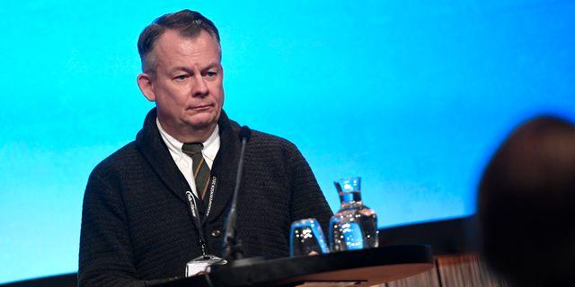 Göran Arrius, ordförande för Saco. Pontus Lundahl/TT / TT NYHETSBYRÅN