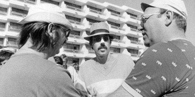 """Inspelning av filmen """"Sällskapsresan"""" i San Agustin på Gran Canaria. Gunnar Lantz / TT / / TT NYHETSBYRÅN"""