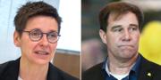 Ann-Sofie Hermansson (S) och Martin Wannholt, Demokraterna TT