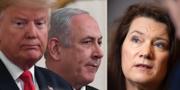 Donald Trump och Benjamin Netanyahu/Ann Linde. TT