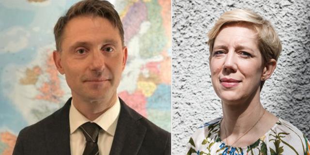 Andreas Wallström och Anna Beman. Pressbild och TT.