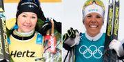 Britta Johansson Norgren och Charlotte Kalla. TT Nyhetsbyrån