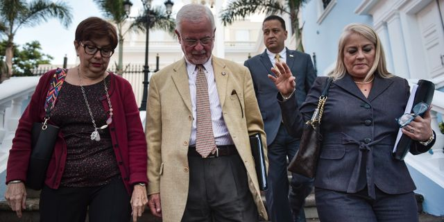 Wanda Vázquez till höger (2018) Carlos Giusti / TT NYHETSBYRÅN