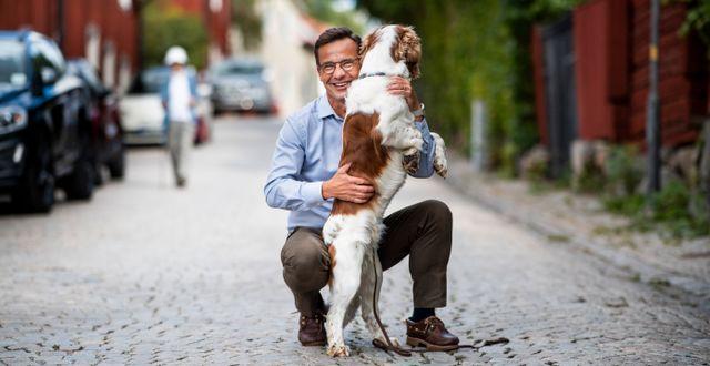 Kristersson i samband med talet. Pontus Lundahl/TT / TT NYHETSBYRÅN