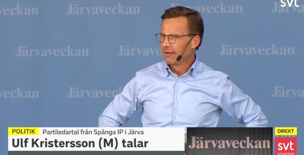 Ulf Kristersson (M). SVT