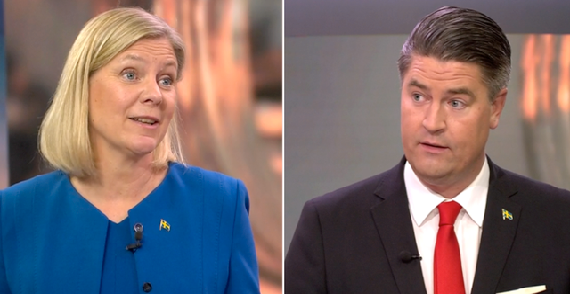 Magdalena Andersson och Oscar Sjöstedt.  SVT