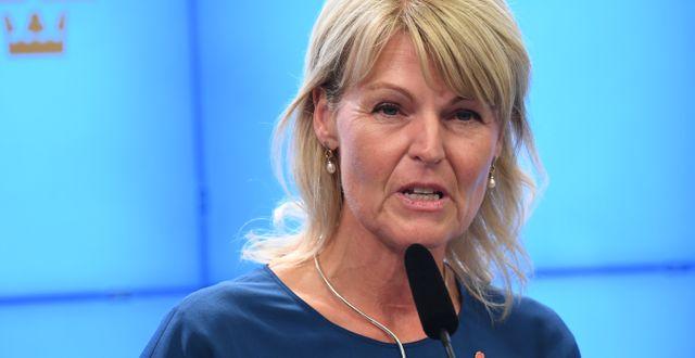 Utrikeshandelsminister Anna Hallberg (S). Jonas Ekströmer/TT / TT NYHETSBYRÅN