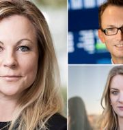 Gabrielsson, Thorén och Landeborn. TT, Press