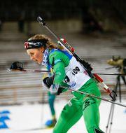 Stina Nilsson under gårdagens lopp, då hon slutade på plats 13. Per Danielsson/TT / TT NYHETSBYRÅN