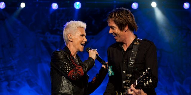 Marie Fredriksson med Per Gessle, 2011.  Victor R. Caivano / SCANPIX