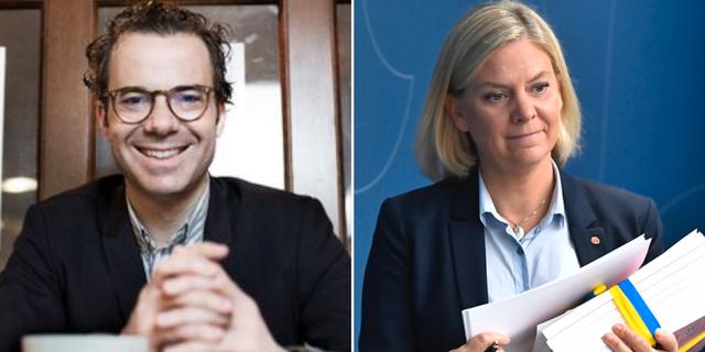 Blecher och Magdalena Andersson. TT