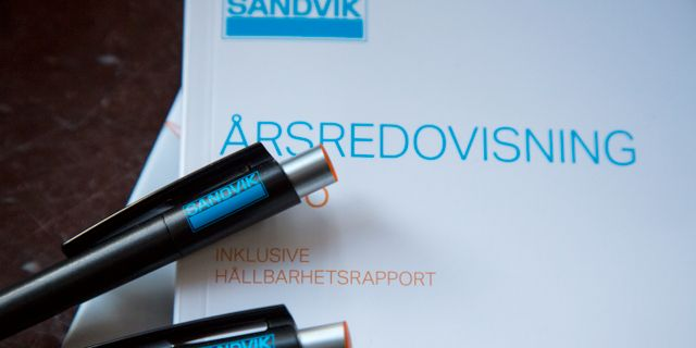 Illustrationsbild: Industrijätten Sandvik lämnar delår på tisdagen. Johanna Norin/TT / TT NYHETSBYRÅN