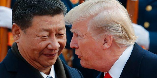 Xi och Trump. Andy Wong / TT NYHETSBYRÅN/ NTB Scanpix