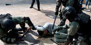 Sammandrabbningar mellan poliser och aktivister.  ATHIT PERAWONGMETHA / TT NYHETSBYRÅN
