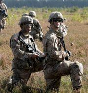 Nato övade i Lettland i förra veckan. INTS KALNINS / TT NYHETSBYRÅN