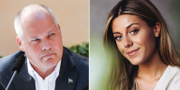 Justitieminister Morgan Johansson och influencern Bianca Ingrosso  TT