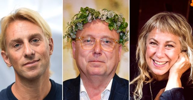 Anders Hansen, Magnus Ranstorp och Stina Wollter.  TT