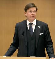 Talman Andreas Norlén. Riksdagen