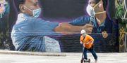 Muralmålning i Miami. Wilfredo Lee / TT NYHETSBYRÅN