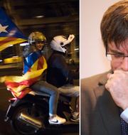 Till höger: Carles Puigdemont.