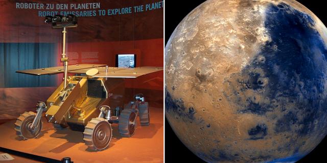 Fordonet ExoMars och planeten Mars. Wikipedia, TT